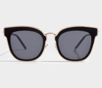 Nile Sonnenbrille aus schwarzem Metall
