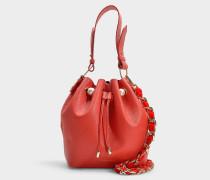 Bucket Bag Bernie aus rotem Kalbsleder