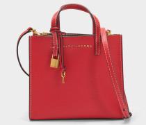 The Mini Grausd Tote Bag aus rotem Kuhleder