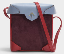 Handtasche Mini Pristine Combo aus Kalbsleder mit pflanzlicher Gerbung und mehrfarbigem Wildleder