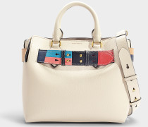Kleine Handtasche The Belt aus Kalbsleder Calcaire