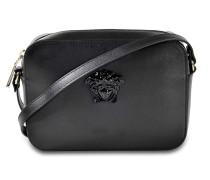Palazzo Kamera Tasche aus schwarzem Kalbsleder