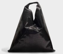 Handtasche Japanese aus schwarzen Pailletten