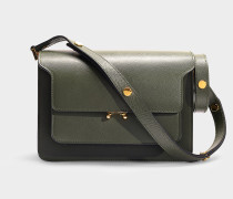 Trunk Medium Bag in Green Forest Saffiano Leather