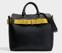 Belt Tasche Medium aus schwarzem Marais Leder