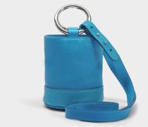 S801S Bonsai 15 Cm Tasche with Strap aus Pfauhaar undKalbsleder