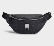 Fursten Visetos Small Belt Bag in Black Coated Canvas