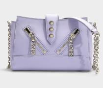 Handtasche Mini Kalifornia aus lavendelfarbenem Kalbsleder