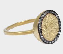 Elijah Ring 24K goldfarbenem-plattiertem mit silber und Diamantenen