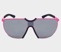 Aloe Sonnenbrille aus neonrosanem und navyblauem Acetat und Metall
