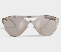 Glam Medusa Sonnenbrille aus Metall
