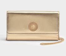 Tribute Icon Evening Tasche aus goldfarbenem Nappaleder