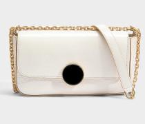 Small Moon Shoulder Bag aus elfenbeinfarbenem Kuhleder