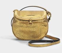Le Taj Small Bag aus goldfarbenem Wasserschlangenleder