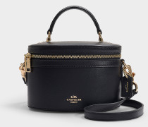 Trail Crossbody Bag in Black Refined Calf Leather