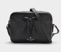 Handtasche Arla Hayes Street aus schwarzem Kalbsleder