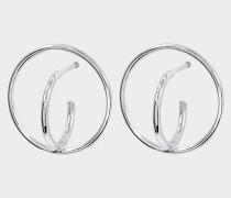 Saturn S Ohrringe aus Silber