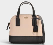 Kleine Handtasche Lottie Cameron Street aus beigem und schwarzem Kalbsleder