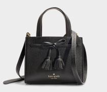 Kleine Handtasche Sam Thompson Street aus schwarzem Kalbsleder