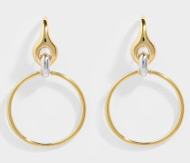 Halo Vermeil und Silber Ohrringe
