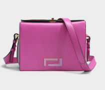 Pia Crossbody Tasche aus Cyclamen und lila Wildleder und glattem Leder