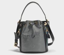 Kombo Bucket Tasche aus silbernem Neopren