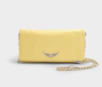 Tasche rock aus gelbem Kalbsleder
