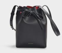 Bucket Bag Mini Bucket aus schwarzem Kalbsleder