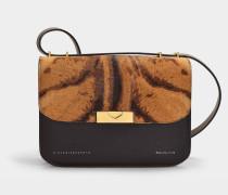 Handtasche Eva aus Kalbsleder mit Leoprint