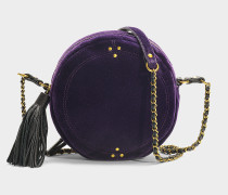 Handtasche mit Schulterriemen Rémi aus violettem Samt