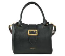 Medium Buckle Tote Bag aus schwarzem Kalbsleder