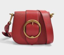 Tasche Crossbody Lennox Medium aus genarbtem, rotem Leder