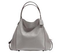 Edie 42 Shoulder Bag aus grauem Kalbsleder