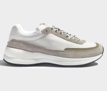 Women Running Schuhe aus weißem Polyester und Nylon