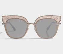 Rosy Sonnenbrille aus rosanem Metall