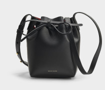 Bucket Bag Mini Mini Bucket aus schwarzem Kalbsleder
