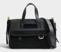 Mini Tool Tasche aus schwarzem gekörntemy Nubuk
