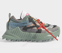 Sneakers ODSY-1000 in Blauem und rotem Kalbsleder