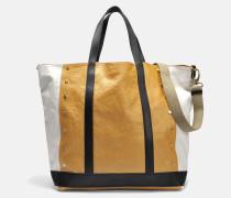 Coated Linen Large Tote Bag aus Multico und gelbem Leinen und Polyurethan
