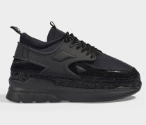 Sneaker Espadrilles K Elastic aus schwarzem Neopren
