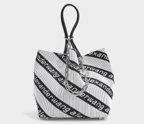 Knit Jacquard Roxy Soft Small Tote in Black and White Jacquard