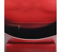 Angele Tasche aus rotem glattem Leder und Nubuk