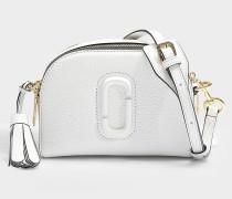 Handtasche Shutter aus weißem Kalbsleder