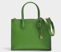 Großer Shopper Mercer Wendbar aus grünem Kalbsleder