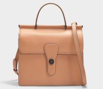 Tasche mit Henkel Willis aus braunem Kalbsleder