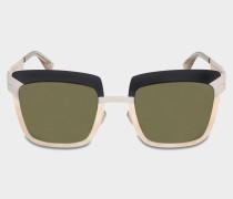 Studio 4.2 Sonnenbrille aus grauem Mod Acetat und Metall
