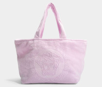 Tribute Medusa Towel Tasche aus rosanem Frottee