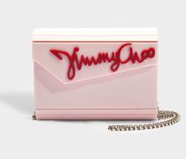 Clutch Candy '' aus rosa und rotem Acryl