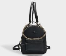 Palazzo Backpack aus schwarzem Nappaleder