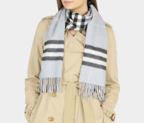 Giant Icon Scarf in Dusty Blue Cashmere